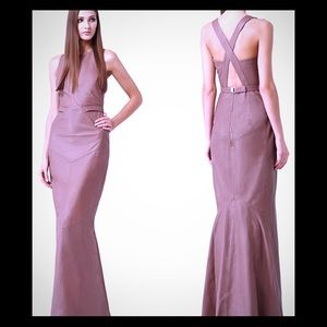 Reiss Hedra Cognac Leather Maxi Dress...Mint Cond.